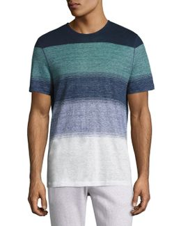 English Striped Linen Tee