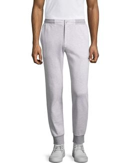 Tailored Heathered Jogger Pants