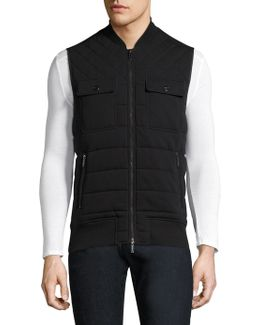 Quilted Knit Cotton Vest