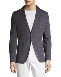 Birdseye Knit Regular Fit Blazer
