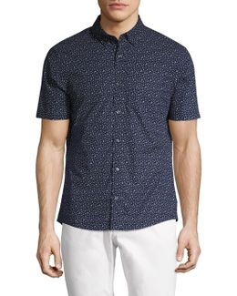 Otis Print Slim Fit Button-down Shirt