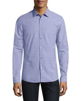 Dot-print Cotton Shirt
