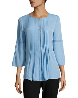Orion Pleated Silk Blouse
