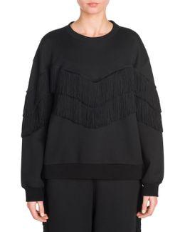 Cotton Fringe Sweatshirt