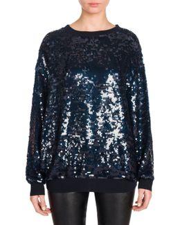 Silk Sequin Sweatshirt