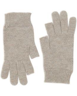 Ribbed Short Gloves