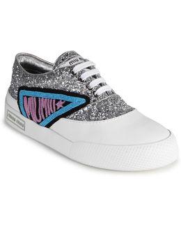 Glitter Trimmed Sneakers