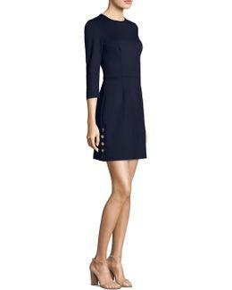 Button Side Mini Dress