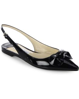 Blare Patent Leather Slingback Flats