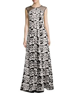 Floral Floor-length Gown