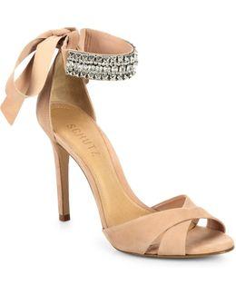 Larazee Leather Lace-up Sandals