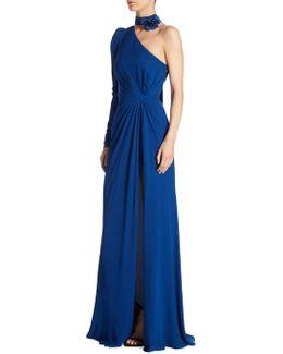 One Shoulder Silk Gown