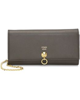 Long Leather Chain Wallet