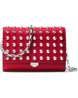 Yasmeen Small Studded Leather Clutch