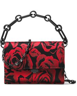 Yasmeen Rose Medallion Jacquard Small Convertible Clutch