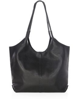 Naomi Pickstitch Leather Hobo Bag
