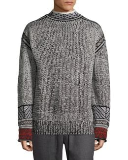 Fair Isle Jacquard Mockneck Sweater