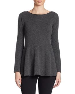 Cashmere A-line Sweater
