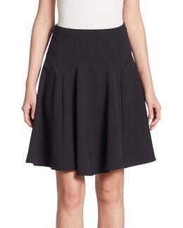 Wool Fluted Skirt