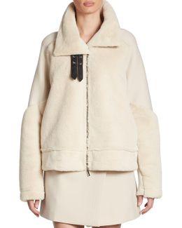 Faux Fur & Wool Jacket