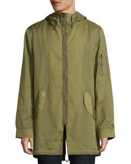 Dalton Rips Hooded Overcoat