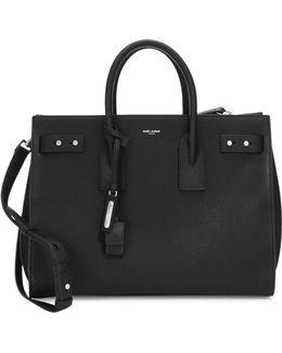Medium Leather Carryall Briefcase