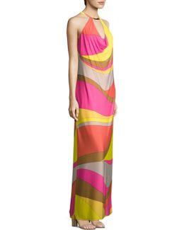 Multicolored Halter Dress