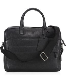 Solid Leather Briefcase Bag