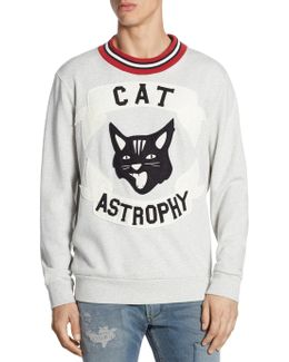 Cat Astrophy Regular-fit Cotton Sweater