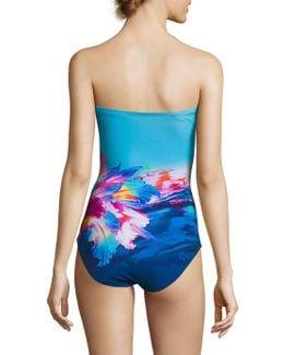 One Piece Bandeau Swimsuit
