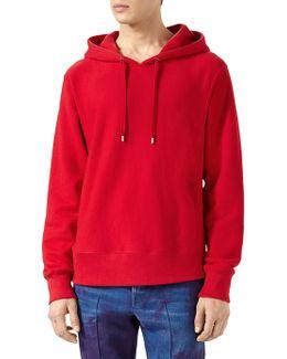 Cotton Sweatshirt With Appliques