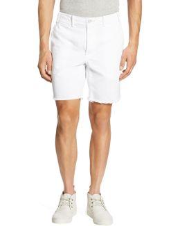 Straight Fit Cutoff Chino Shorts