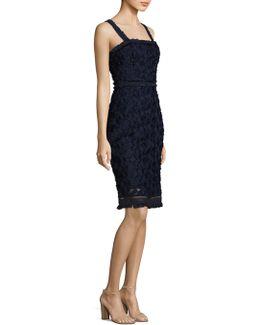 Fringed Lace Sheath Dress