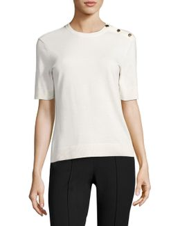 Tj Andie Button Top