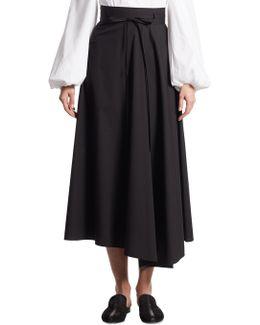 Jaberdina Stretch-cotton Poplin Midi Skirt