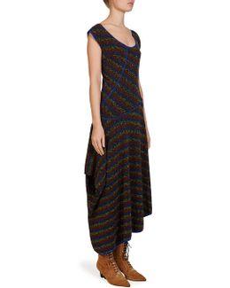 Wool Asymmetric Knit Dress
