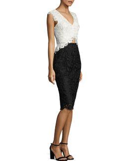 Floral Lace Cutout Dress