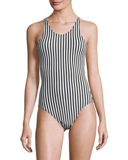 Racer Mio Striped Bodysuit