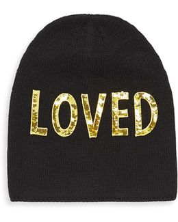 Loved Sequin-embroidered Wool Hat