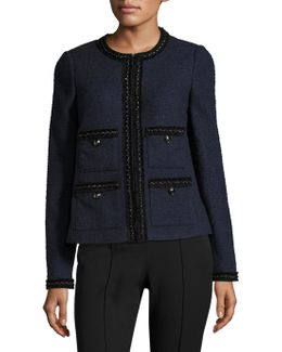 Halyna Trim Tweed Tailored Jacket