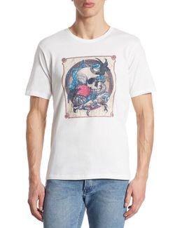 K-large Skull Cotton T-shirt