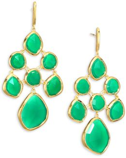 Siren Green Onyx Chandelier Earrings