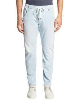 Drawstring Tapered Jeans