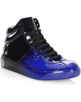 Degrade Leather High-top Sneakers