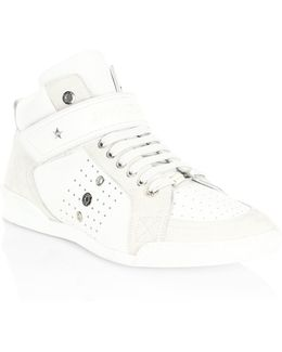 Perforated High-top Trainer Sneakers