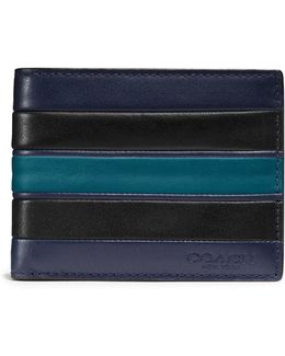 Varsity Stripe Slim Leather Wallet