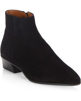 Fire Leather Ankle Boots