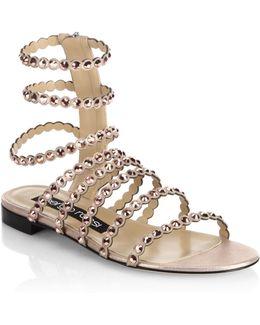 Kimberly Suede & Jewel Gladiator Sandals