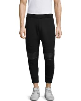 Ribbed Cotton Sweatpants