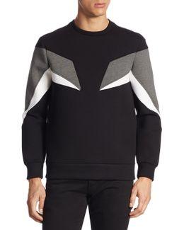 Contrast Panelled Sweatshirt